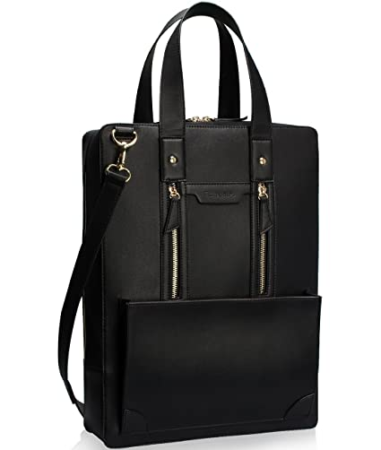 Estarer Women Laptop Bag 15.6 inch Office Briefcase PU Leather Work Satchel  Handbag Black  Amazon.co.uk  Luggage 72b29cde0a