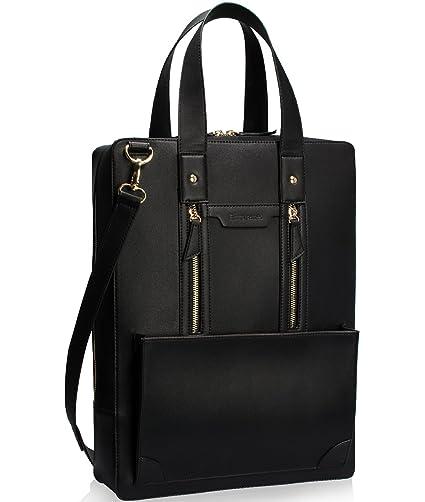 Estarer Women Laptop Bag 15.6 inch Office Briefcase PU Leather Work Satchel  Handbag Black  Amazon.co.uk  Luggage 72b29cde0a