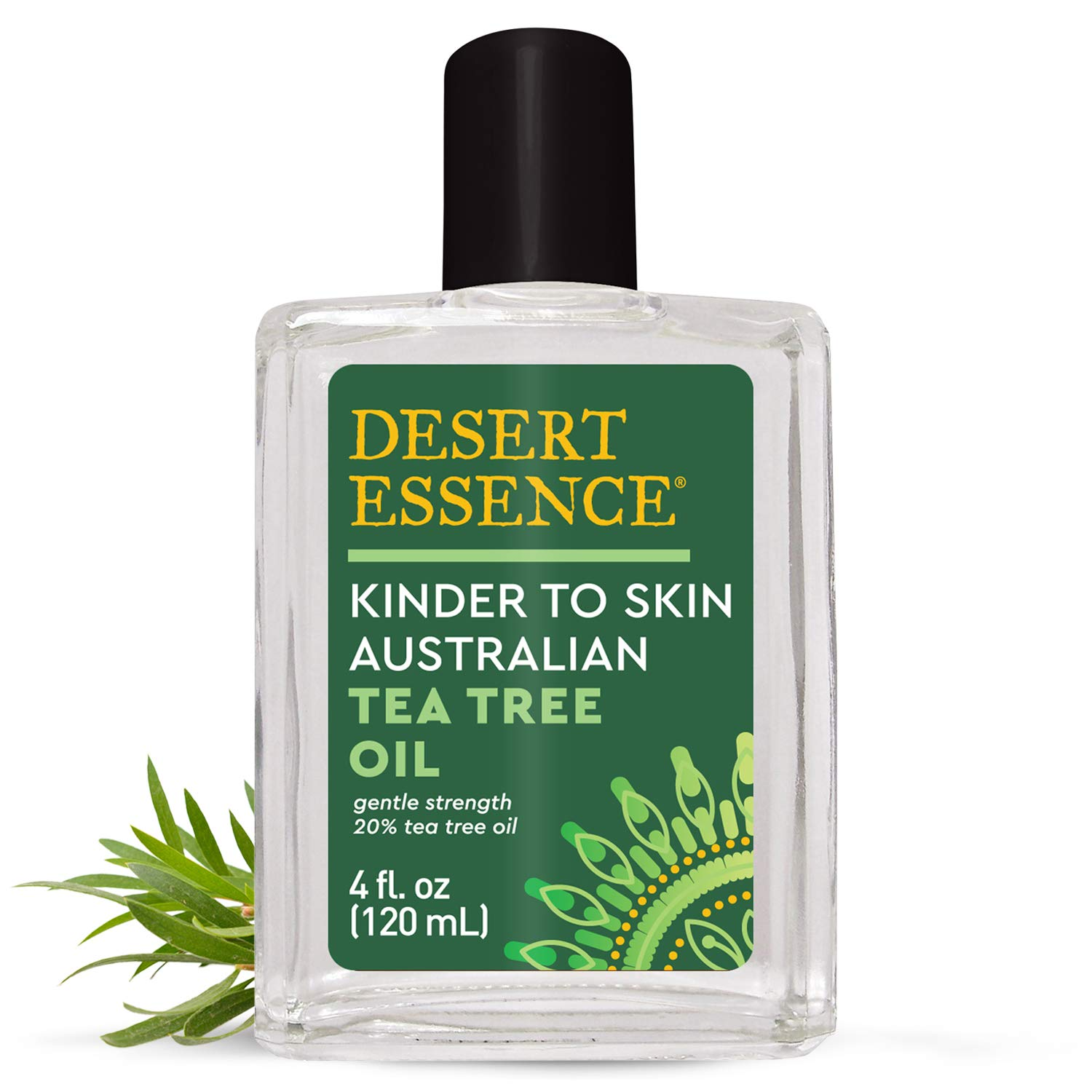 Desert Essence Kinder to Skin Australian Tea Tree Oil - 4 Fl Oz - Soothes Stings & Minor Insect Bites - Blemishes - Water Soluble - Essential Oil - Refreshing - Natural Glow - No Parabens