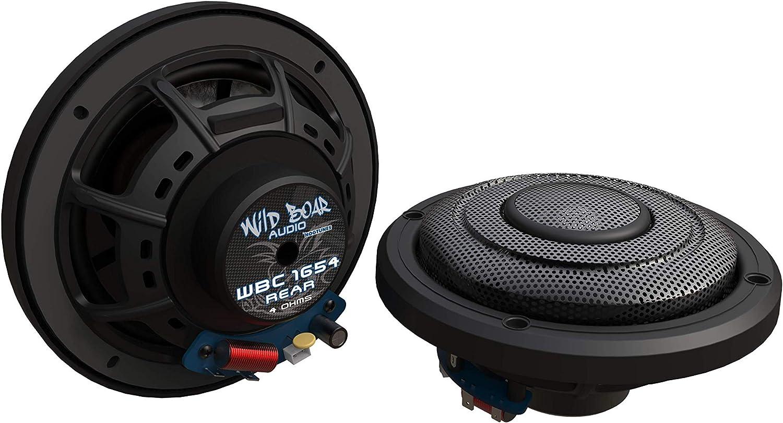Harley-Davidson Ultra Models WBC 1654 Rear Wild Boar Audio WBC 1654 Rear 6.5 4 Ohm Rear Speakers With Grills for 2014