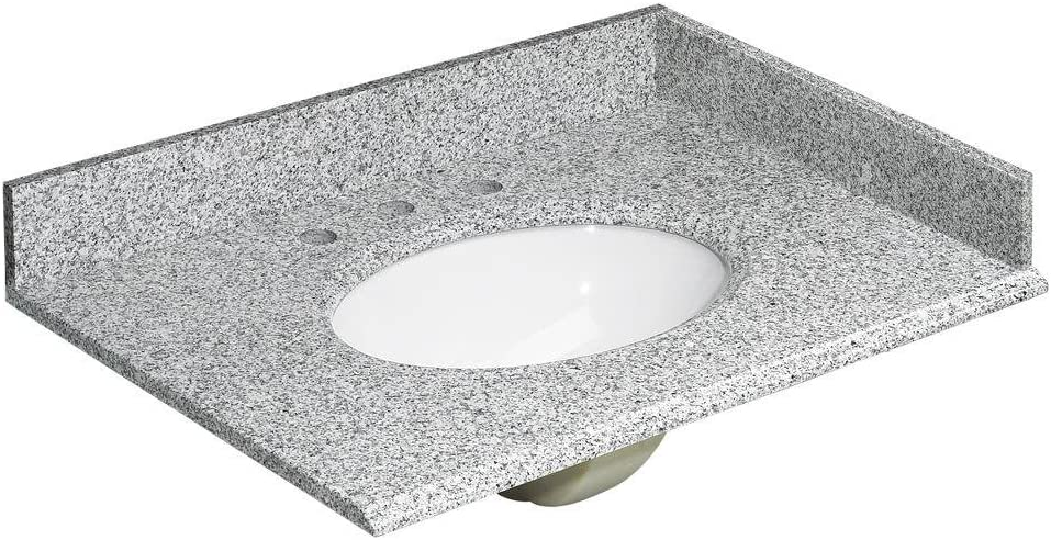 Foremost Hg31228rg Foremost Heritage Granite Vanity Top 31 Rushmore Grey Pack Of 4 Vanity Sinks Amazon Com