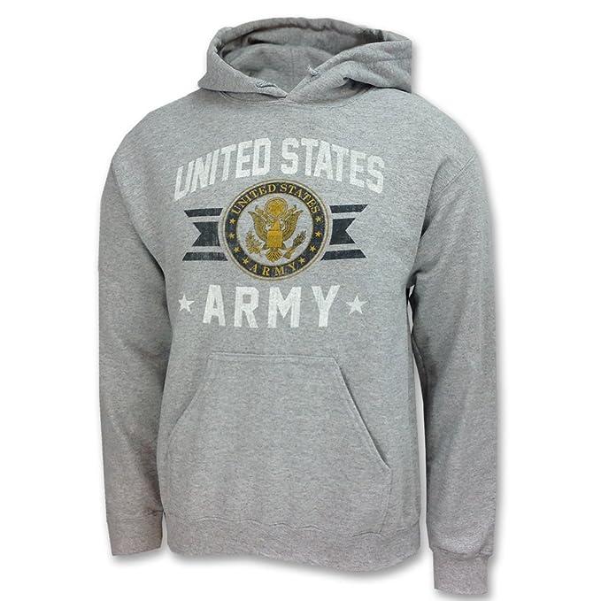 Armed Forces Gear Men's Army Vintage Basic Hooded Sweatshirt