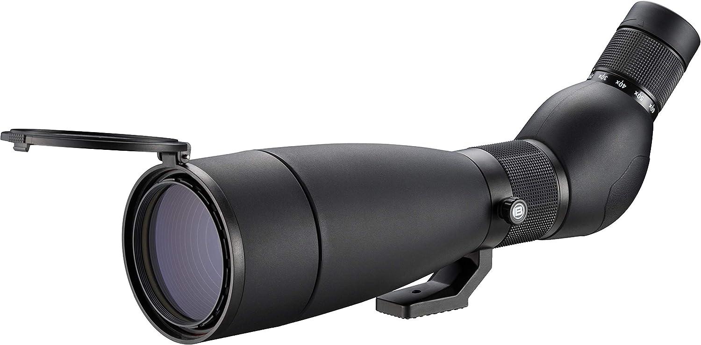 Bresser Spektiv Travel 20-60x80 - Telescopio con trípode de Mesa, Ligero y Compacto para Viajes con Aumento de Zoom Continuo, Incluye Bolsa con Correa y Tapas Protectoras, Color Negro