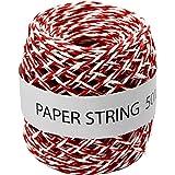 Creativ Company Ficelle de papier, rouge/blanc, 50 m