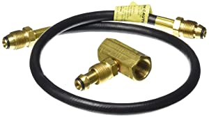 Mr. Heater 2-Tank Hook-Up Kit with Tee and 30-Inch Hose Assembly with P.O.L. Male Ends