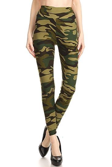 ffbae35f74aeb iZZYZX Women Regular High Waist Camouflage Military Printed Yoga Work Out Pants  Legging