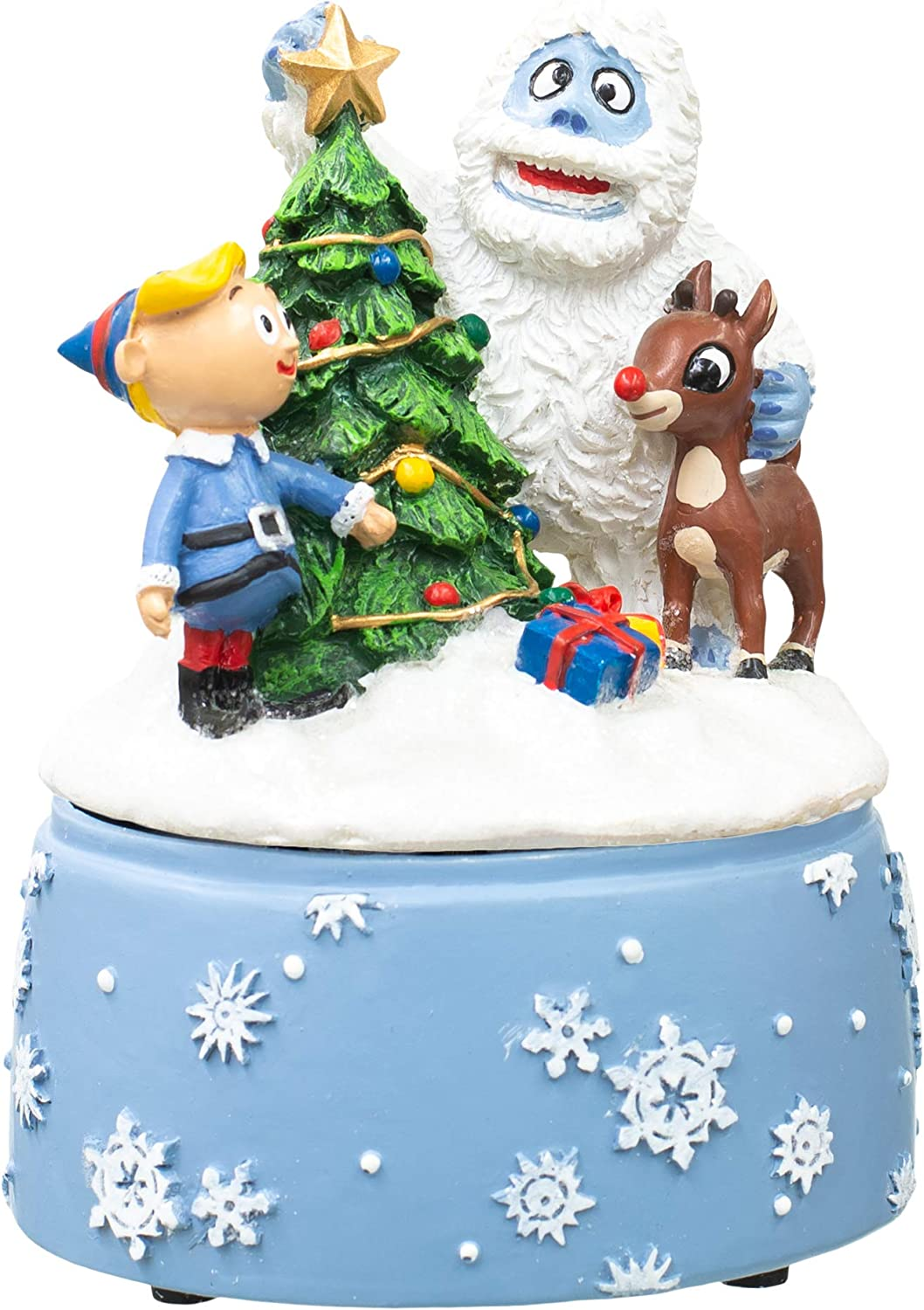 Rudolph and Friends Arctic Blue 7 x 5 Resin Holiday Musical Figurine
