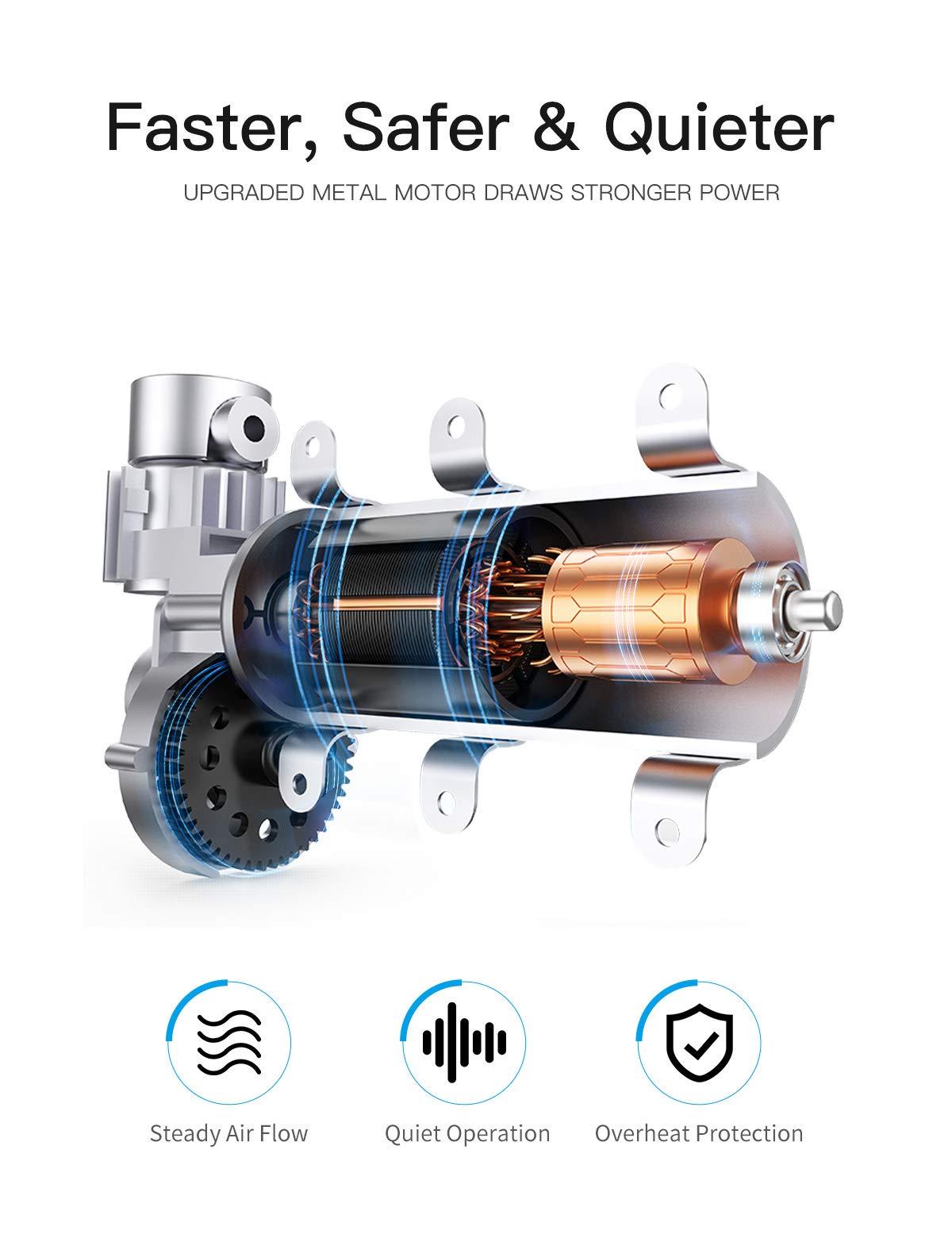 JOYROOM Portable Air Compressor Tire Inflator - Car Tire Pump with Digital Pressure Gauge (150 PSI 12V DC), Bright Emergency Flashlight - for Auto, Trucks, Bicycles, Balls by JOYROOM (Image #3)