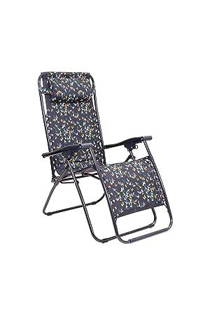Strandstuhl Klappstuhl Campingstuhl Liege Stuhl mit Räder /& Kopfkissen blau
