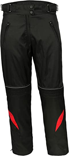 Bangla 1711 Damen Motorradhose Tourenhose Textil Cordura 600 Schwarz Rot L