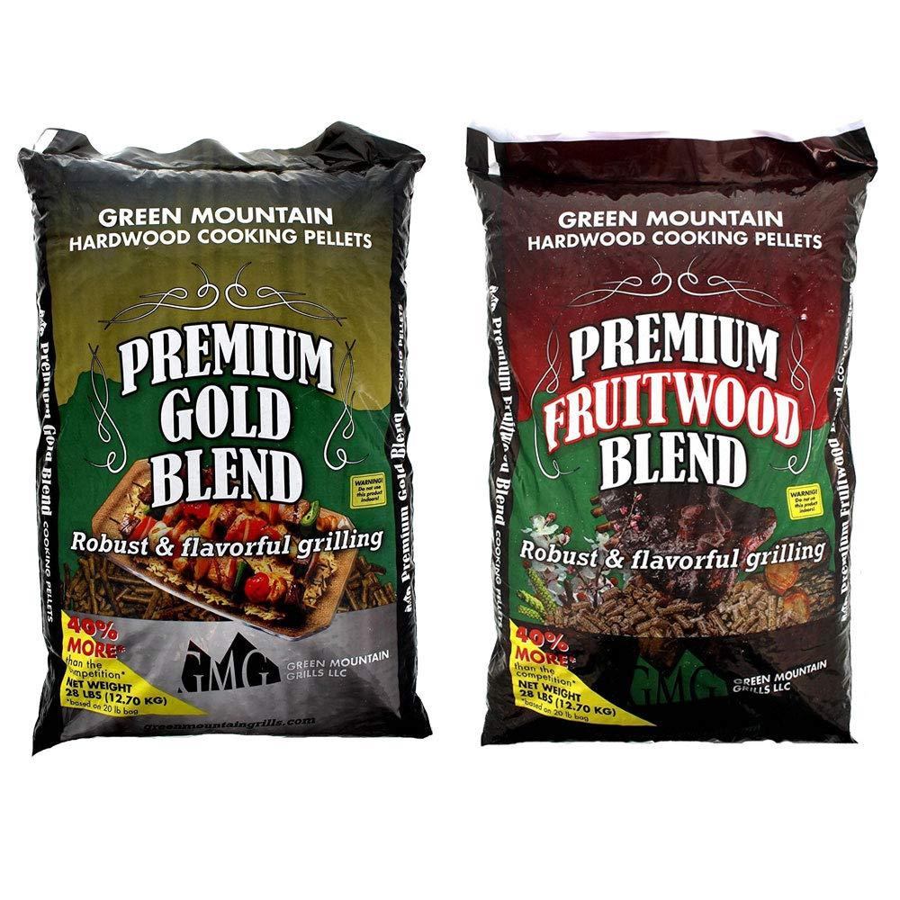 Green Mountain Grills Premium Gold Blend Pure Hardwood Grilling Cooking PelletsGreen Mountain Grills Premium Fruitwood Pure Hardwood Grilling Cooking Pellets by Green Mountain Grills (Image #1)