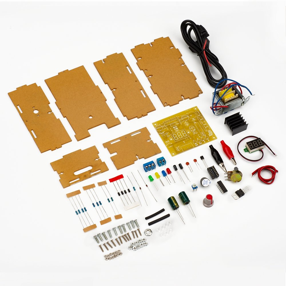 Adjustable Power Supply Kit Top Deals Lowest Price Lm317 Based 0 To 3v Diy 110v Voltage 125v Step Down