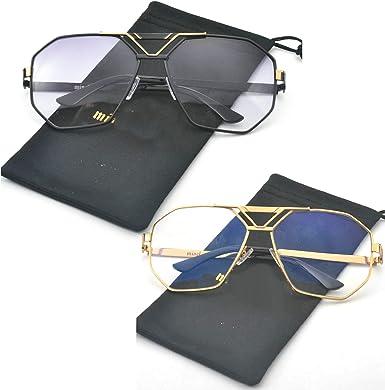 Amazon Com Mincl 2021 Moda Estilo Cuadrado Transparente Gafas De Sol Unisex Vintage Gafas De Gran Tamaño X Clothing