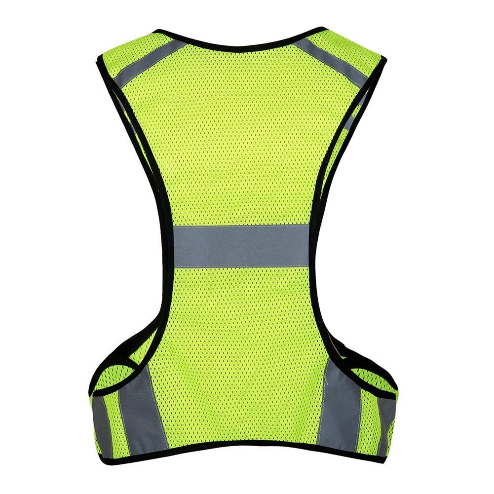 Moto Corsa Passeggio e Lavoro Gilet Alta Visibilita Uomo Ciclismo Gilet Riflettente Alta visibilit/à Unisex Gilet Sicurezza con Strisce Riflettenti per attivit/à Notturne nel Traffico