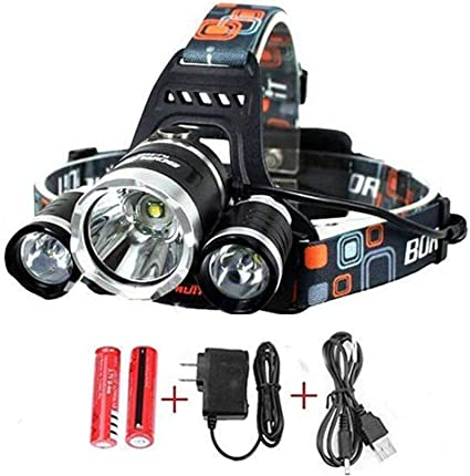 35W Headlamp 9-10 Hours Led Head Torch Super Bright Flashlight Outdoor Hiking