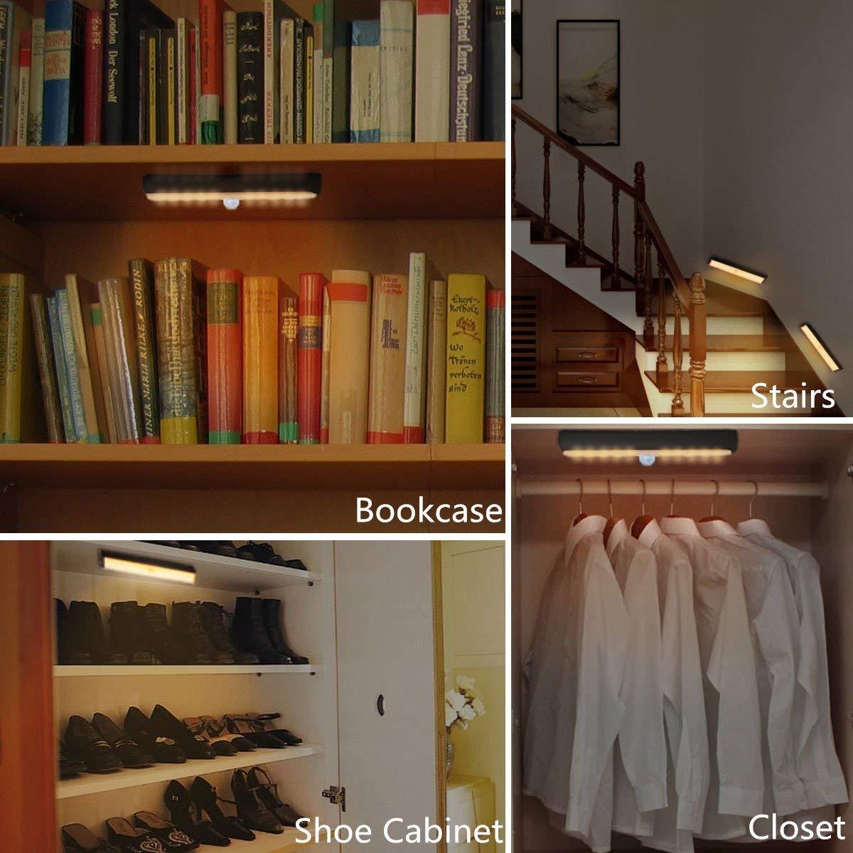 Wireless Motion Sensor Cabinet Light Drawer Closet Lights ...