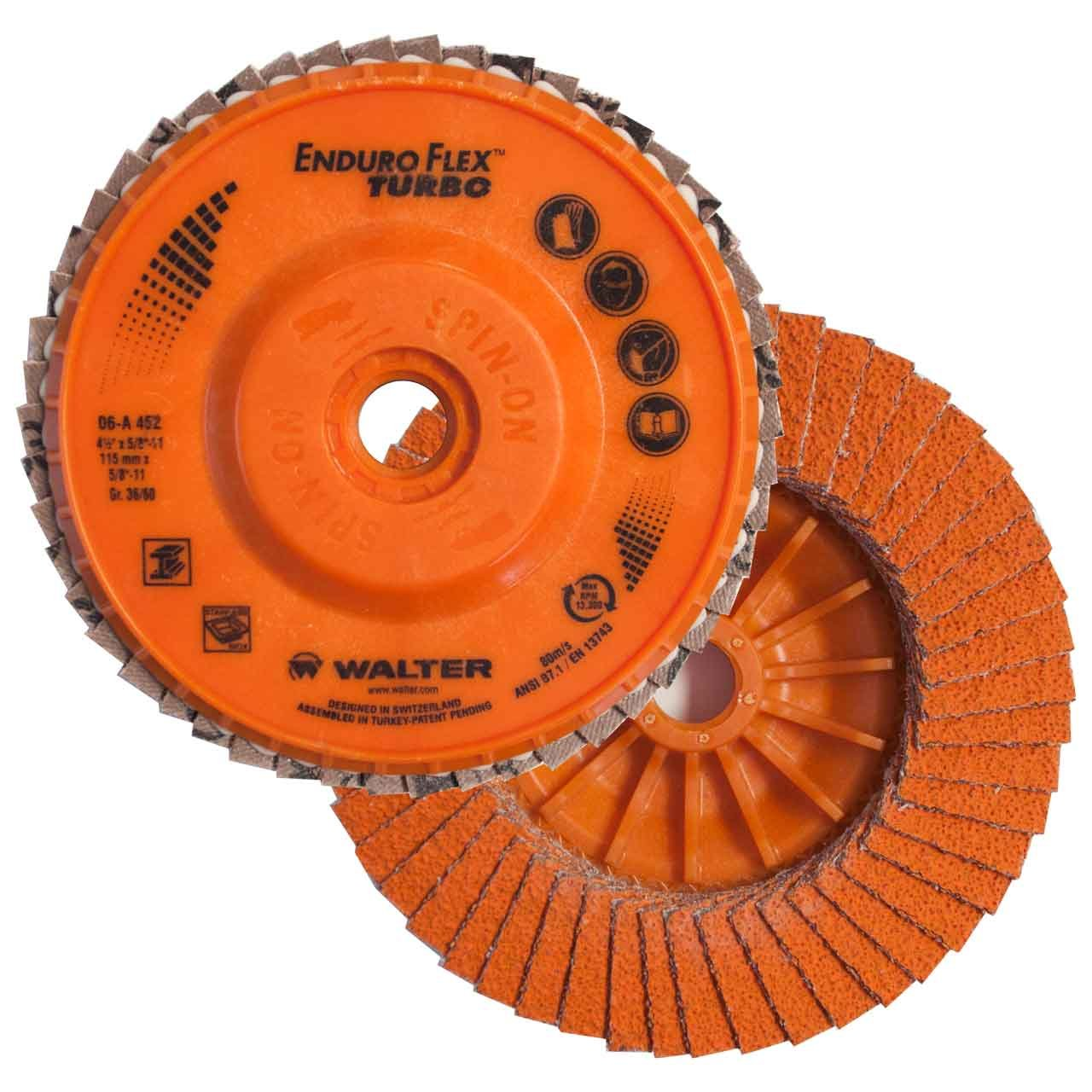 Walter 06A452 4-1/2x5/8-11 Enduro-Flex Turbo Blending Disc, 10 pack