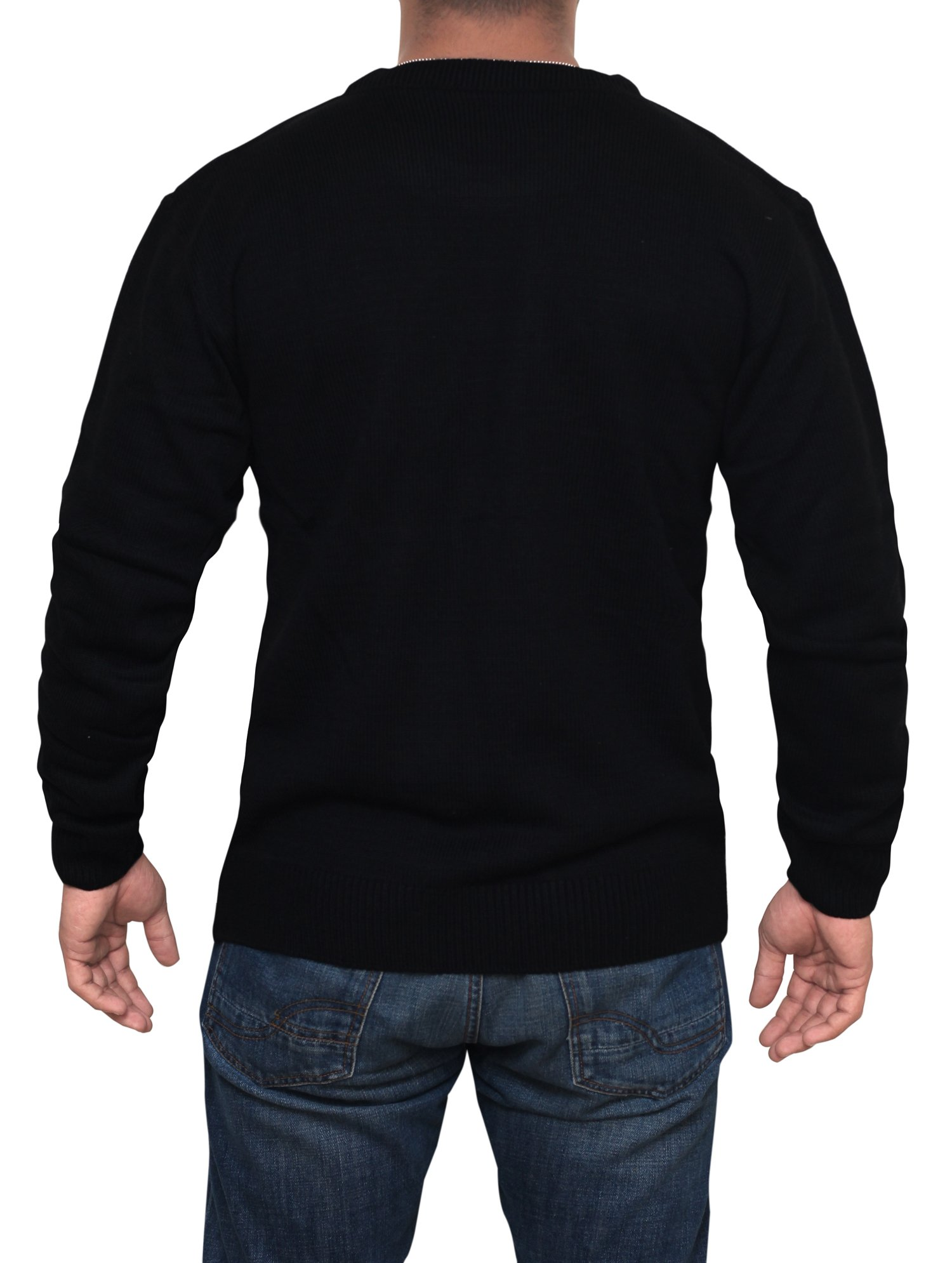 Star Wars Last Jedi Sweater - Star Wars Holiday Sweater by Miracle (Black, Large) by Miracle(Tm) (Image #4)