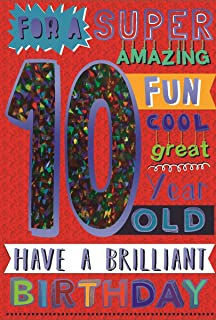 Birthday Card For Ten 10 Year Old Boy Free 1st Class Post Uk