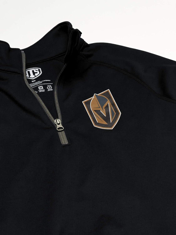 OTS NHL Mens Poly Fleece 1//4-Zip Pullover
