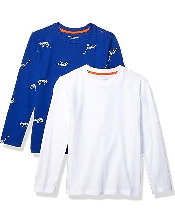 067a5d35 Amazon Essentials Boys' 2-Pack Long-Sleeve Tees