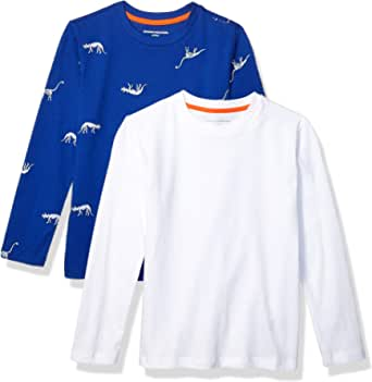 Amazon Essentials Boys' 2-Pack Long-Sleeve Tees Niños, Pack de 2