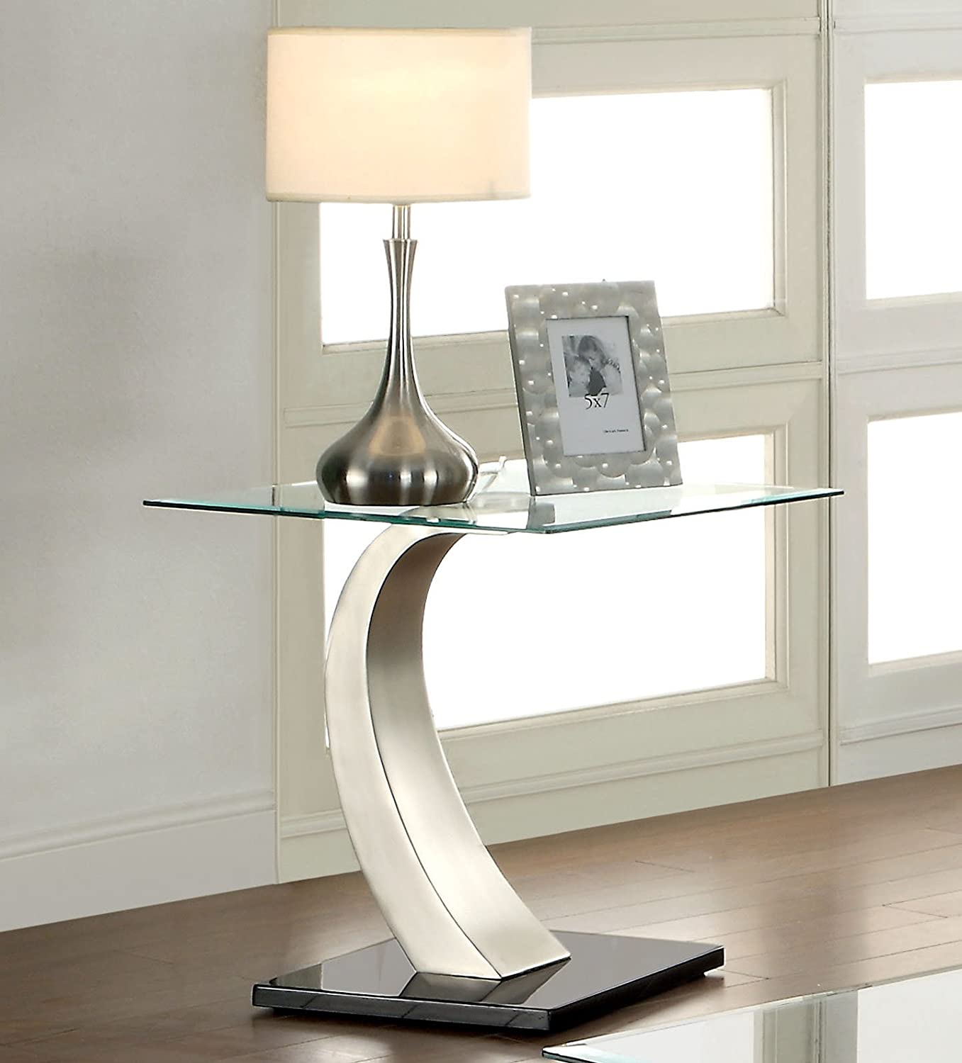 Furniture of America Kassius Modern End Table, Metallic Finish