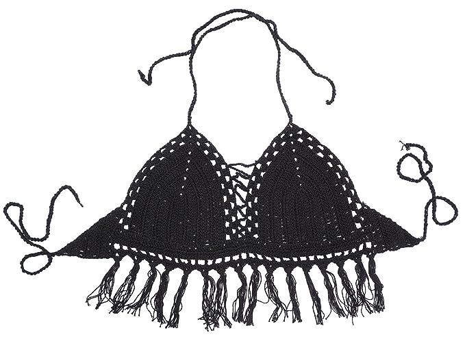 3927af7d358b4 Women s Beachwear Bar Bikini Tops Tassel Bralette Crop
