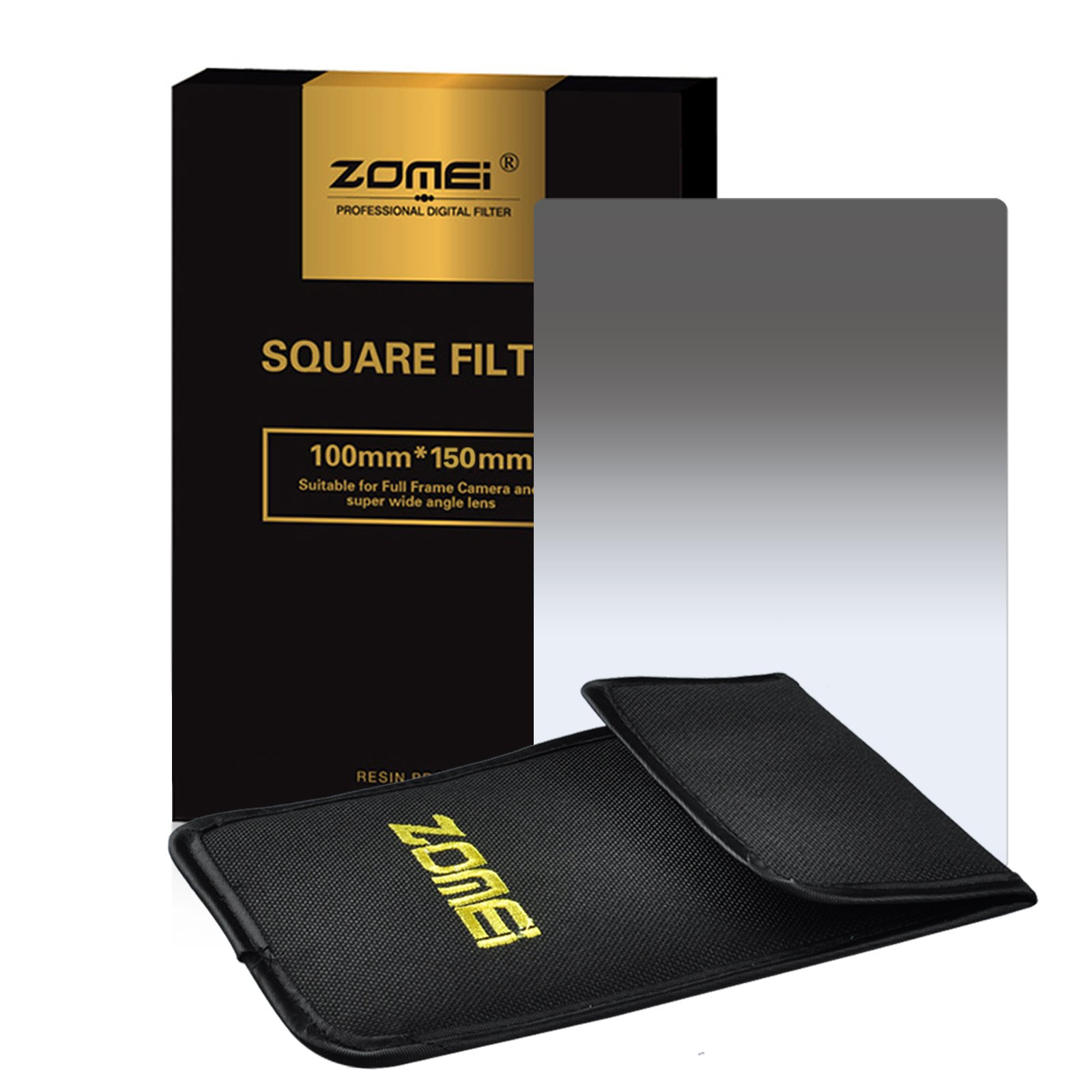 Zomei Graduated ND Neutral Density ND2 Square Z-PRO Series Filter for Cokin Z Zomei Hitech 4X6 Holder 150100 mm