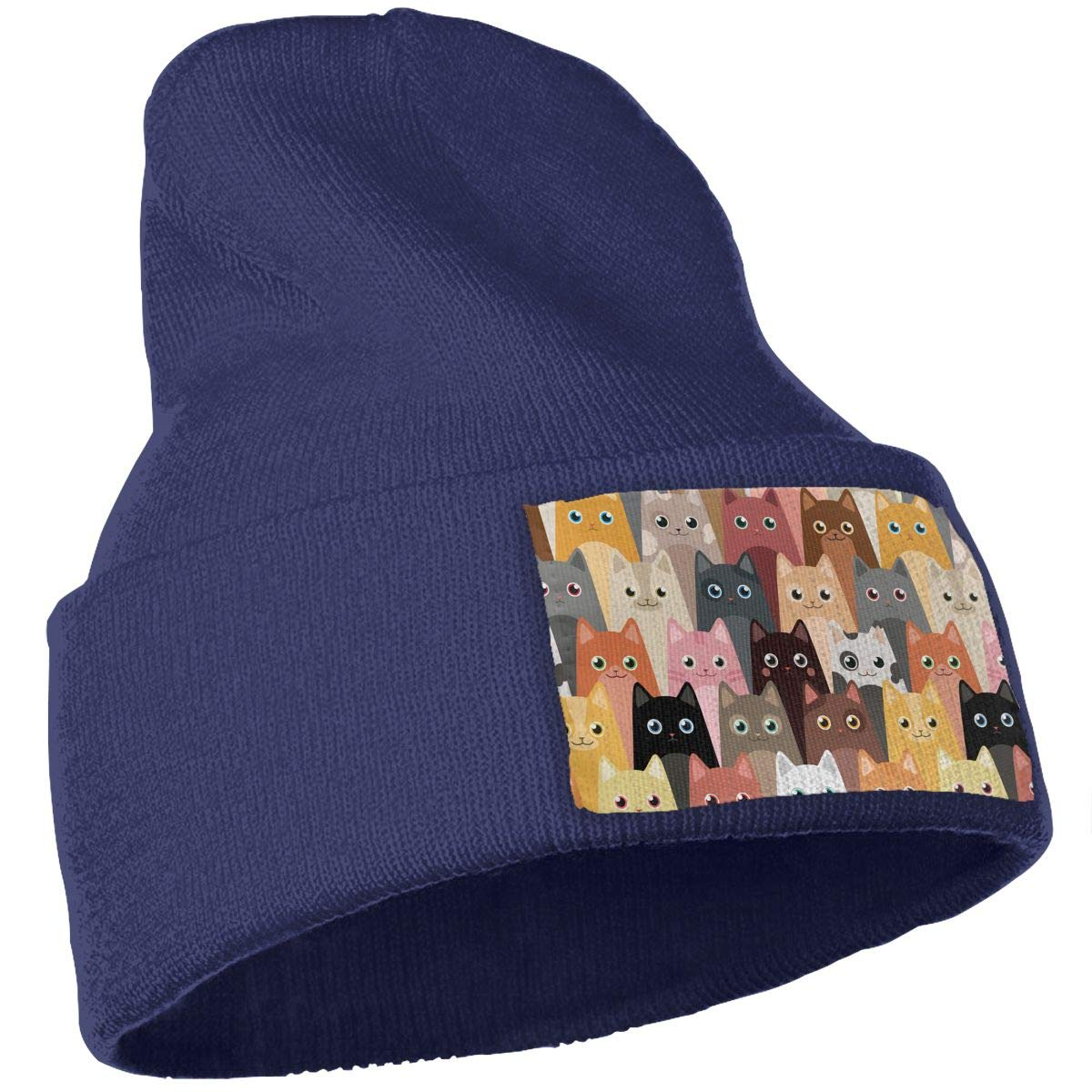 Cute Cartoon Cats Unisex Fashion Knitted Hat Luxury Hip-Hop Cap