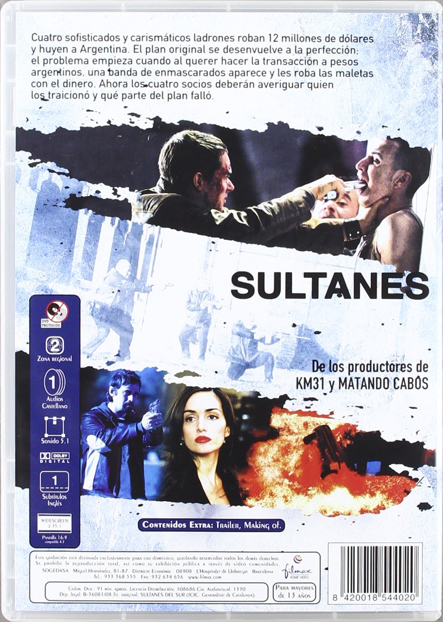 Amazon.com: Sultans of the South (Sultanes del Sur)  [ NON-USA FORMAT, PAL, Reg.2 Import - Spain ]: Jordi Mollà, Tony Dalton, Ana de la Reguera, ...