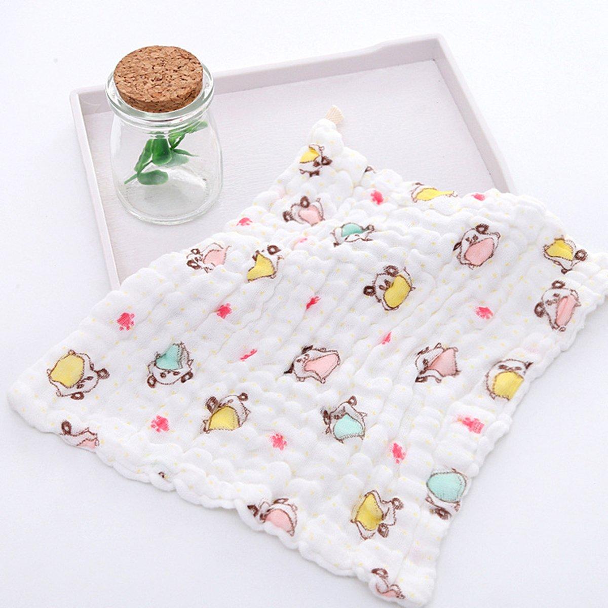 paquete de 5 Tukistore Toalla de beb/é reci/én nacido suave para beb/és Super absorbente de agua para beb/é y beb/és Pieles delicadas Toallitas de beb/é y muselina 11x11