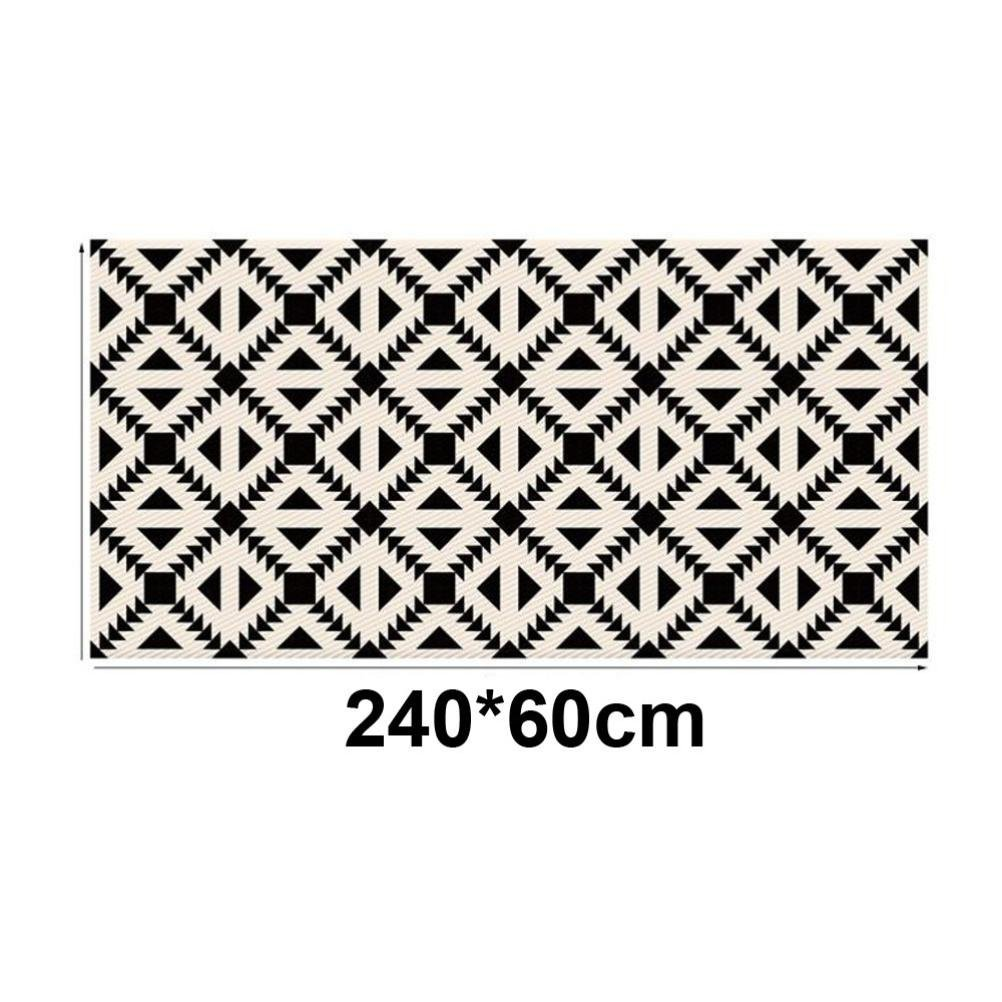 Removable 3D Floor Sticker,Lovewe Black And White Geometric Patterns Removable 3D Floor Sticker Decal Mural Living Room Home Decor (60X240cm)