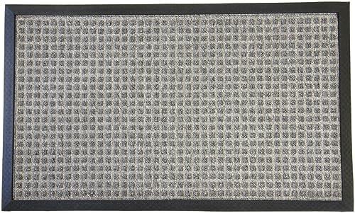 Rubber-Cal Nottingham Carpet Entrance Mat – 3 x 5 feet – Gray Front Doormat