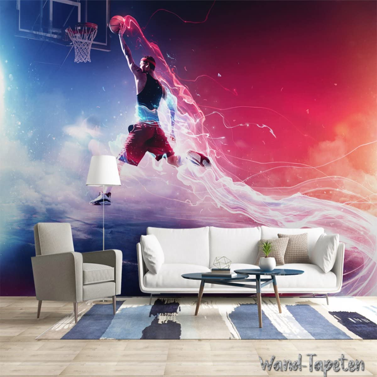 3-Bahne H B x 105cm Papier peint photo mural papier peint photo mural Basketball KN-3510 XS 150cm