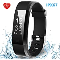 Smart Fitness Band, HolyHigh 115Plus Fitness Tracker Watch with Heart Rate Monitor Sport Activity Tracker Band with Step Counter Sleep Monitor Call SMS Notifications for Men Women