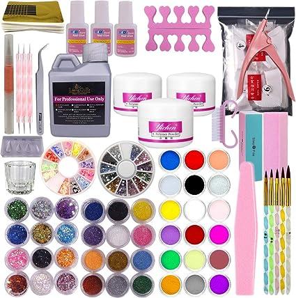 Juego completo de pinceles de gel acrílicos para uñas, kit de manicura: Amazon.es: Belleza