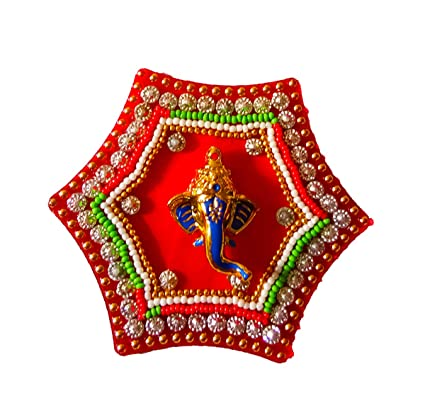 2d7d3bb943a8f3 Buy DMS Retail Multicolor Handcrafted Acrylic Stone and Pearl Studded  Ganesh Sticker in Kalash Shape Foor Door Decoration Online at Low Prices in  India ...