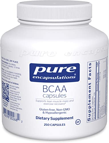 Pure Encapsulations – BCAA Capsules – Hypoallergenic Supplement to Support Muscle Function During Exercise – 250 Capsules
