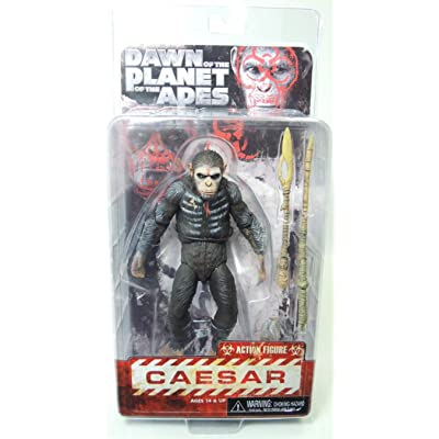 "Dawn of The Planet of The Apes - Caesar - 7"" Scale Action Figure: Toys & Games"