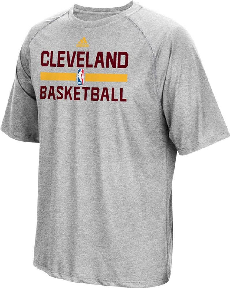 adidas Cleveland Cavaliers Hombre Gris on-Court Climalite Camiseta