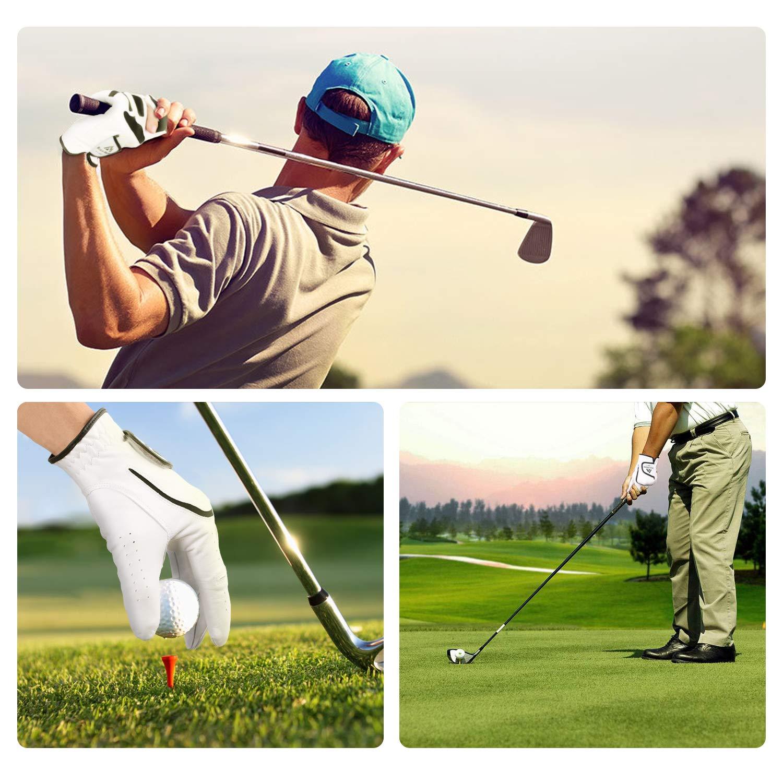 Brace Master Guante Golf, Cuero Cabretta, Cierre Ajustable Traje de Hombres y Mujeres Mano Izquierda, Transpirable Suave Agarre Estable, Adecuado para ...