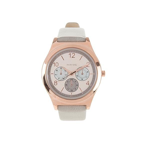 Parfois - Reloj Rose Gold & Grey - Mujeres - Tallas M - Gris