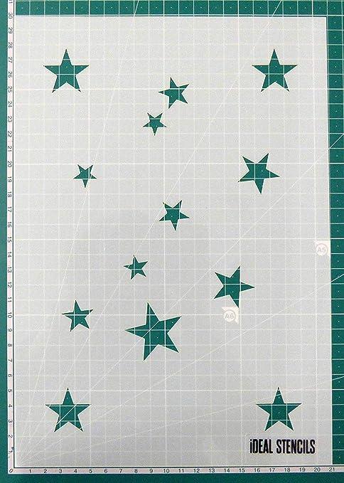 Star Pochoir HOME DECOR PEINTURE MURS TISSUS MEUBLES Réutilisable Art Craft pochoir
