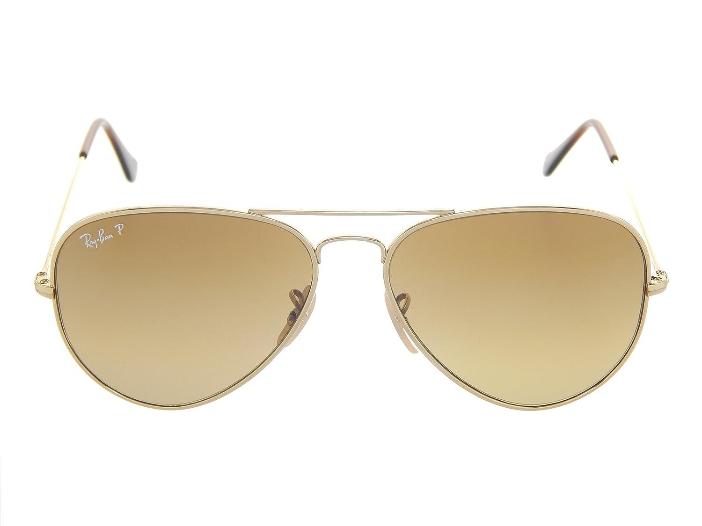 073f6f48e9 Amazon.com  Ray Ban Titanium Aviator RB8041 001 M2 Arista  Brown Grad. 58mm  Polarized Sunglasses  Shoes