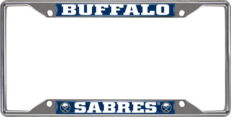 Rico Industries NHL Boston Bruins Laser Cut Inlaid Standard Chrome License Plate Frame 6 x 12.25 Black