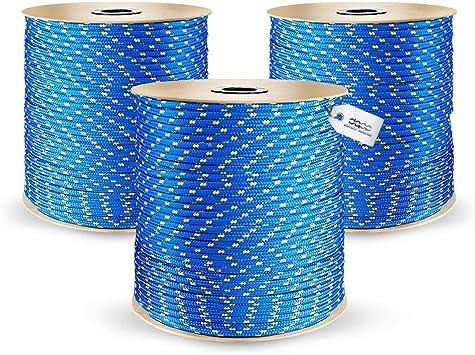 30m POLYPROPYLENSEIL 10mm ORANGE Polypropylen Seil Tauwerk PP Flechtleine Textilseil Reepschnur Leine Schnur Festmacher Rope Kunststoffseil Polyseil geflochten