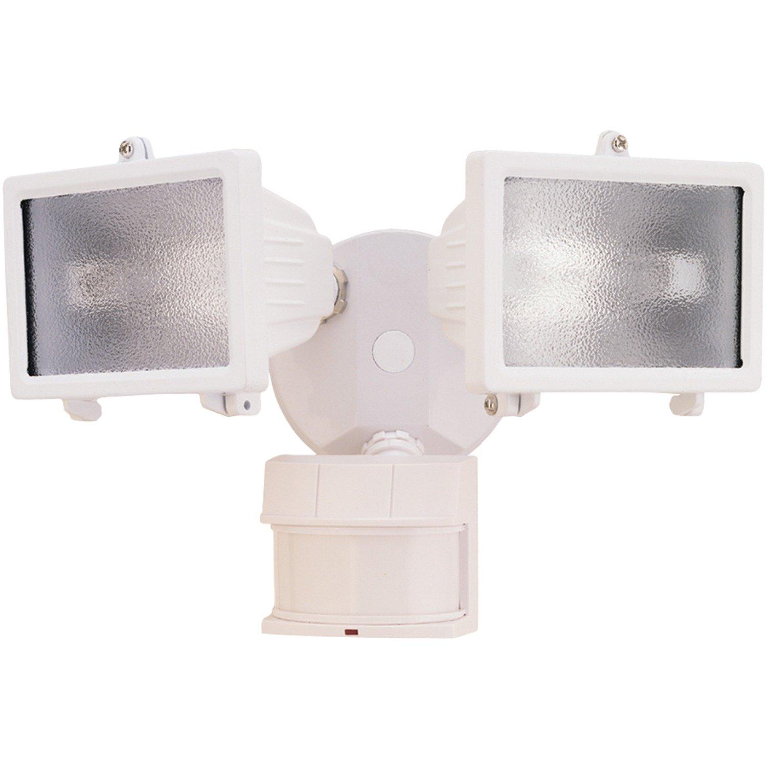 Heath Zenith HZ 5512 WH Dualbrite 150 Watt Motion Sensing Halogen White
