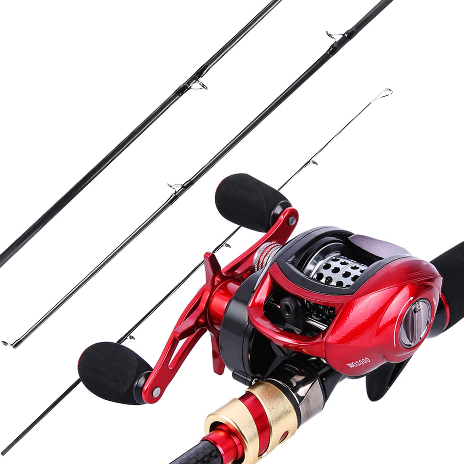 2.1m Spinning Casting Fishing Rod 4 Sections High Carbon Rods