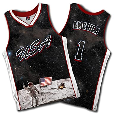 01c85fa6f Image Unavailable. Image not available for. Color: Greater Half Team USA  Galaxy Basketball Jersey ...